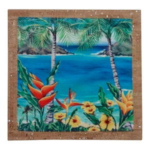 Bliss Hawaii, pillow, home goods, heliconia, hawaii, vegan, luxury, lanikai, cork