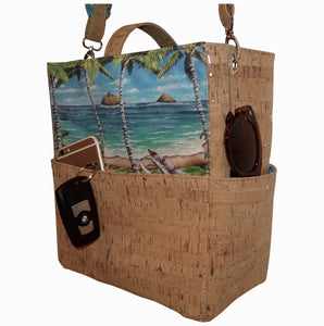 cork bag cork handbag tropical bag tropical handbag bliss collective bags 'olu'olu Bliss Hawaii, pockets, handbag, islands, purse, paddling, vegan, handbag, luxury