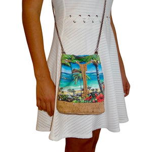 holiday gift christmas shop Bliss Hawaii, baby micro bucket bag, Mokulua islands, hawaii, vegan, handbag, luxury, kailua, cork