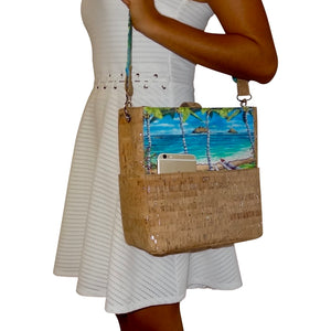 Bliss Hawaii, vegan, handbag, purse, hawaii, vegan, handbag, luxury, kailua, lanikai, cork