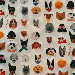 washable cotton mask dog print