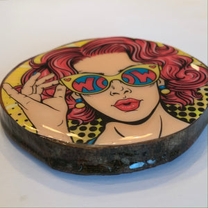 Pop art coaster set ladies great gift holiday gift WOW