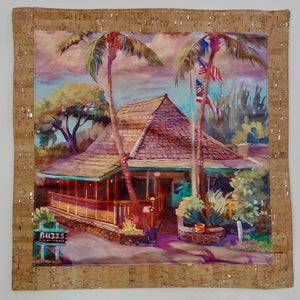 oluolu by Bliss Hawaii luxury pillows with art from Hawaii