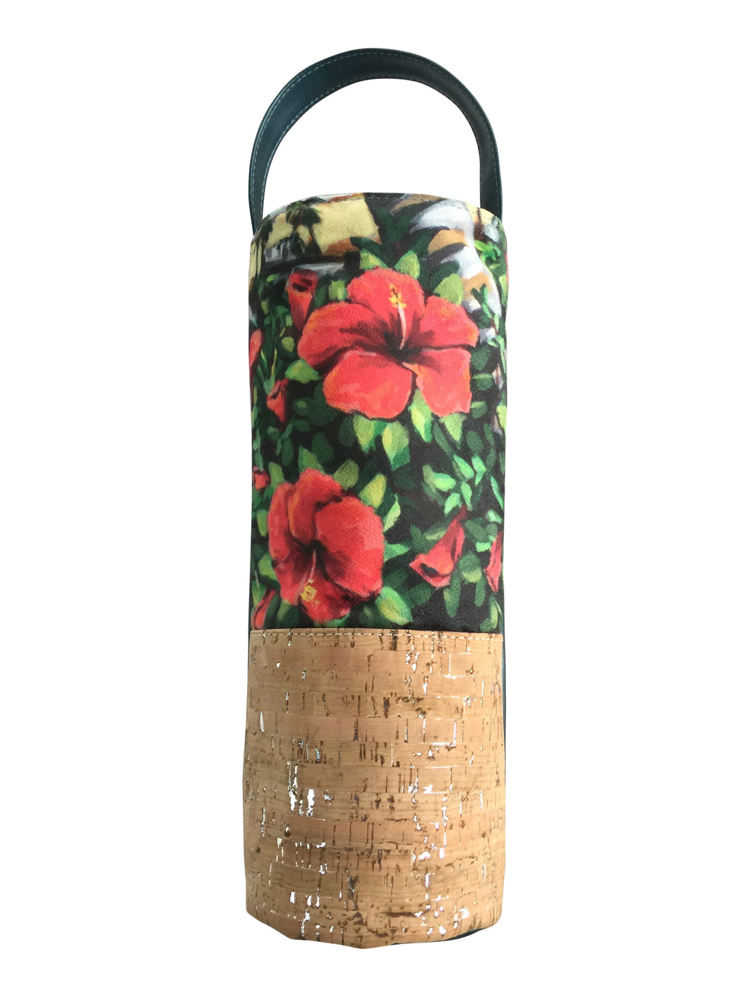 Red Hibiscus Wine Bag - Bliss Hawaii