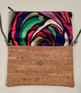 cork bag cork handbag tropical bag tropical handbag Bliss Blooms Cuban art Bliss Hawaii Cork tropical handbag Wild Flower