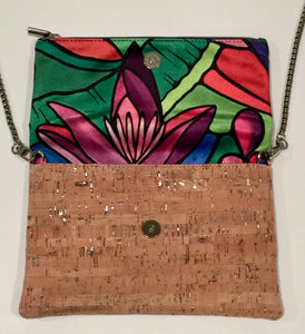 cork bag cork handbag tropical bag tropical handbag Holiday Gift Bliss Blooms Cuban art Bliss Hawaii Cork tropical handbag Banana Platano Flower