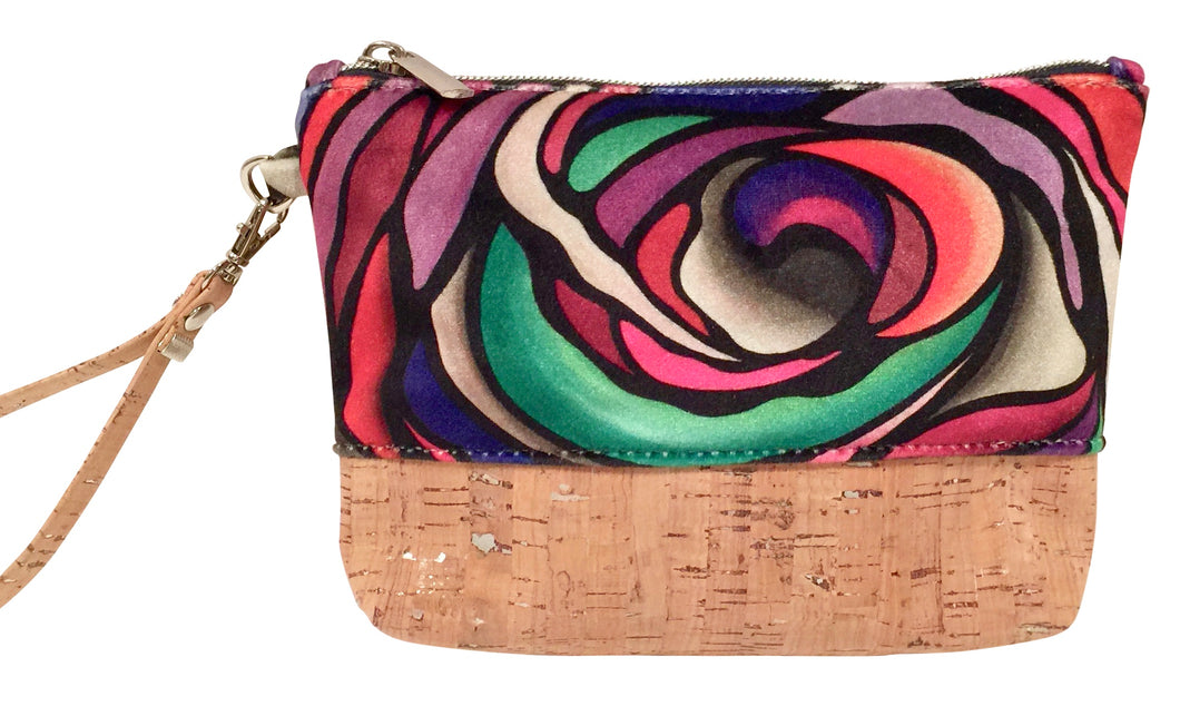 cork bag cork handbag tropical bag tropical handbag Bliss Blooms Cuban art Bliss Collective Cork tropical handbag Wild Flower
