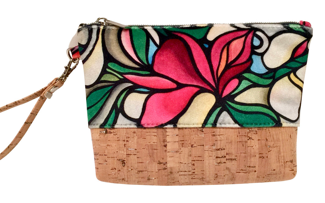 cork bag cork handbag tropical bag tropical handbag Bliss Blooms Cuban art Bliss Hawaii Cork tropical handbag Orchid