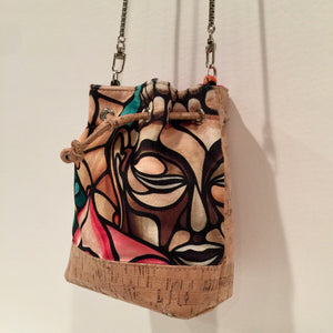 cork bag cork handbag tropical bag tropical handbag Cork Handbag Bliss Collective Bliss Blooms baby bucket bag art Miami cork