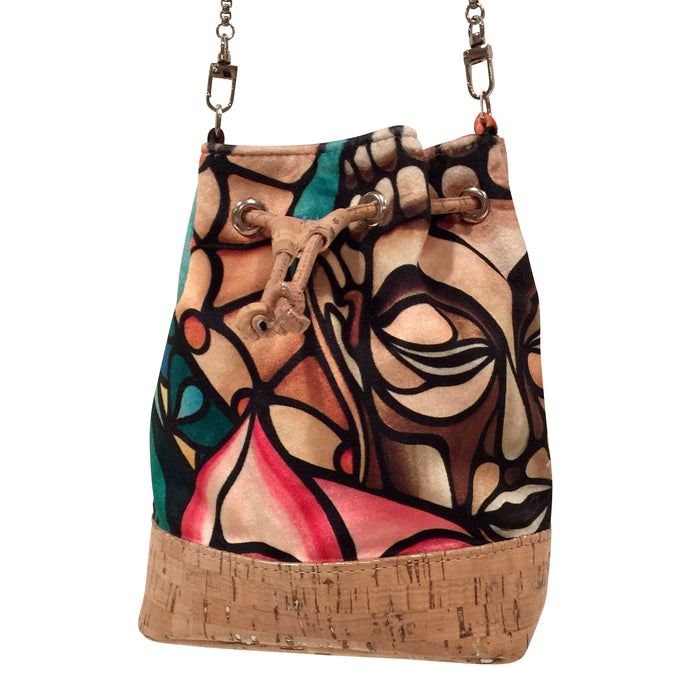 cork bag cork handbag tropical bag tropical handbag Cork Handbag Bliss Collective Bliss Blooms Jorge Barrios baby bucket bag art Miami cork