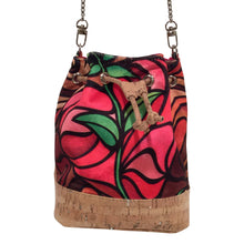 cork bag tropical bag tropical handbag Cork Handbag Bliss Collective Bliss Blooms baby bucket bag art Miami cork