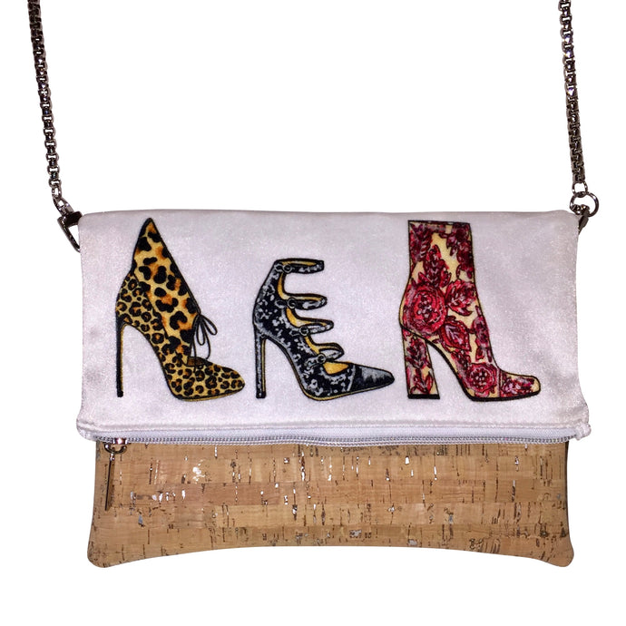 cork handbag shoes fashion illustration Joanna Baker vegan