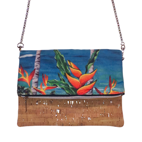 Blue Heliconia Cross Body Bag