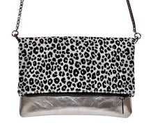 NEW!!  Silver Cowhide Leopard Cross Body Bag