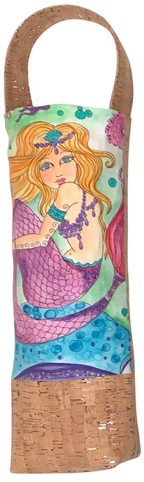 Bliss Collective Mermaid wine bag with Portuguese Cork