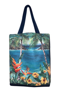 shopper tote kailua art lanikai beach mokulua