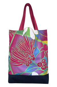 shopper tote floral ecological
