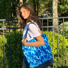 Blue Camouflage Shopper Eco Tote