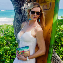 cork bag cork handbag tropical bag tropical handbag bliss collective bags 'olu 'olu wristlet pouch art luxury hawaii art vegan cork