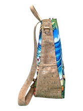 luxury tennis bag by 'olu'olu with art from hawaii and cork leather