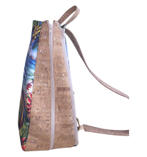 'olu'olu by Bliss Hawaii tennis bag with original art and vegan cork leather