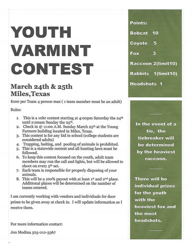 youth varmint hunting contest