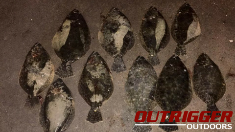 flounder gigging outrigger outdoors