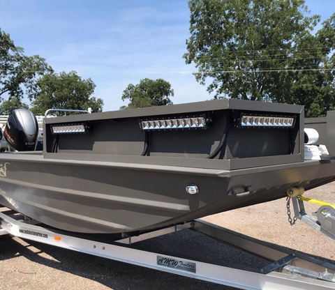 andalusia marine boat with swamp eye light bars mounted