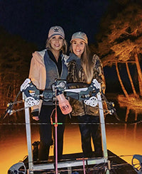 bowfishing at night with bright lights and a lever action bow