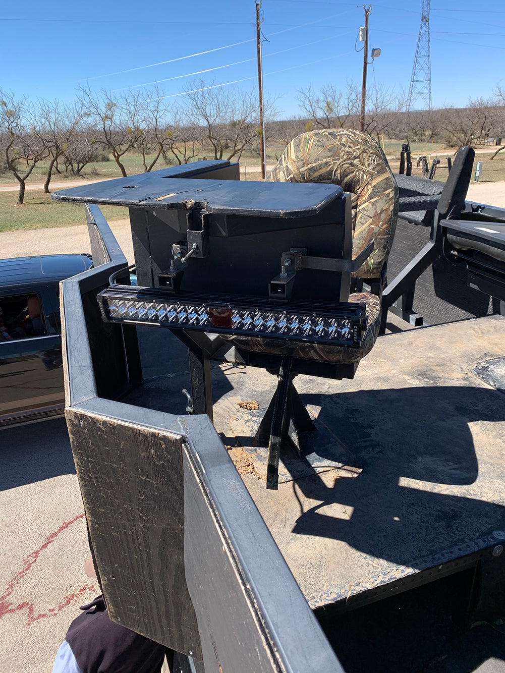 Predator Cannon Mounted to Shooting Chair