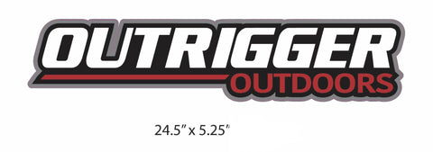"Outrigger Outdoors Vinyl Decal (24.5"" X 5.25"")-Outrigger Outdoors-Outrigger Outdoors"