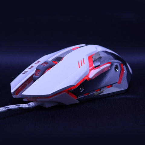 Silent Click Mouse 3200DPI 6 Buttons Breathing LED Wired Optical