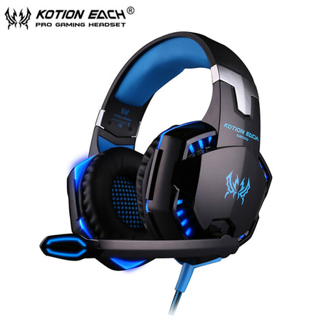 KOTION EACH G2000 Stereo Deep Bass Game Headset With Mic LED Light