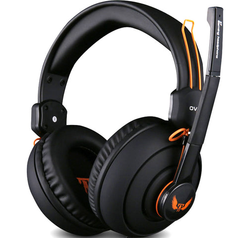 Gaming Headphone With Microphone Studio Bass Noise Isolating