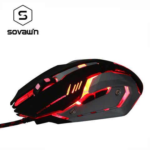 Silent Click Heavy Wired Gaming Mouse