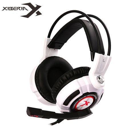 XIBERIA K3 USB Gaming Headphones Virtual 7.1 Surround Sound Stereo Bass Headset with Microphone Vibration LED
