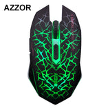 Silent Click Wireless Rechargeable Gaming Mouse 2.4GHz AZZOR M6
