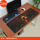 900x300mm World of Warcraft Gaming Mouse Pad Locking Edge