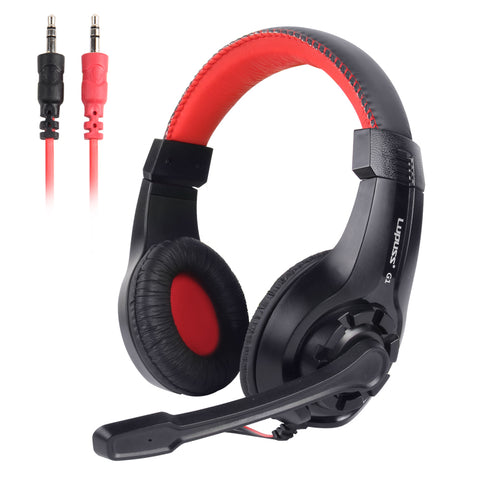 LUPUSS Wired Stereo Sound Adjustable With Mic Noise Cancellation