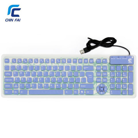 Ultra Slim Roll Up Keyboard Waterproof USB Russian/English 107 Keys Silent Silicone Flexible