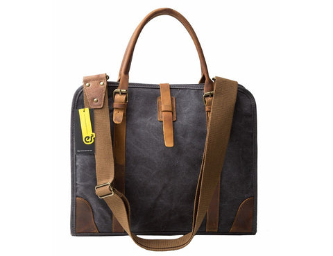 Real Leather Business Messenger Briefcase - Laptop Bag