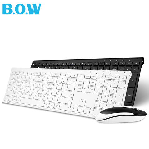 Ultra Slim Keyboard Wireless Metal And Mouse Combo B.O.W