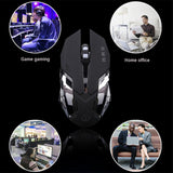 Silent Click Gaming Mouse 3200DPI 6D LED USB Optical
