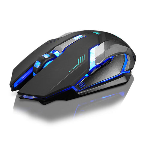 Silent Click Wireless Gaming Mouse LED USB Optical Rechargeable X7
