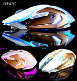 Silent Wireless Rechargeable Gaming Mouse 1600DPI 7 Colors Backlit Breath USB Optical Ergonomic A8 2.4GHz