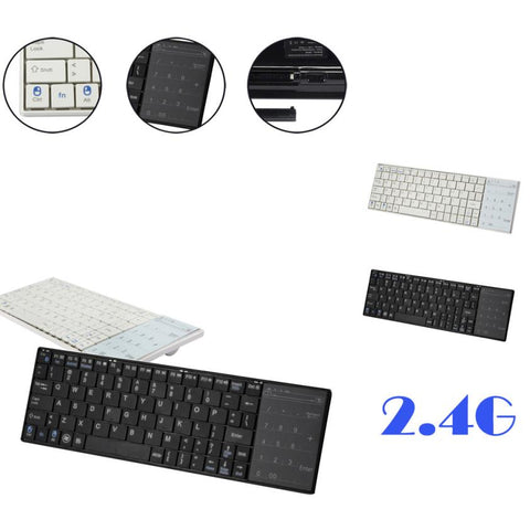 Ultra Slim Mini Keyboard Wireless Bluetooth 3.0 Touch Pad