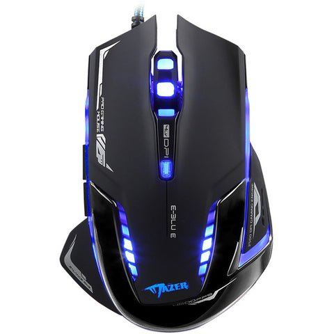 Silent Click Gaming Mouse Adjustable DPI 7 Buttons Plug & Play LED Lights Optical USB