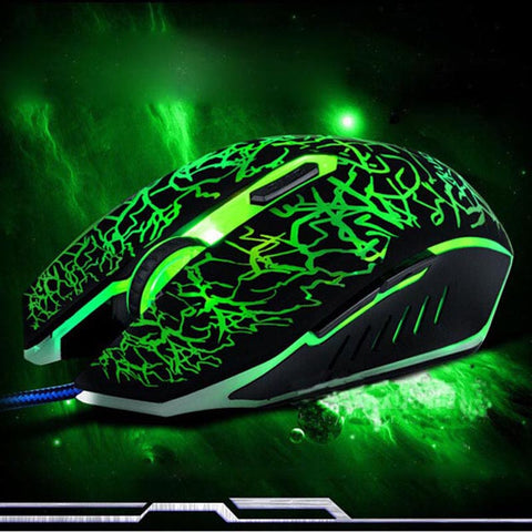 Silent Click Gaming Mouse USB Wired