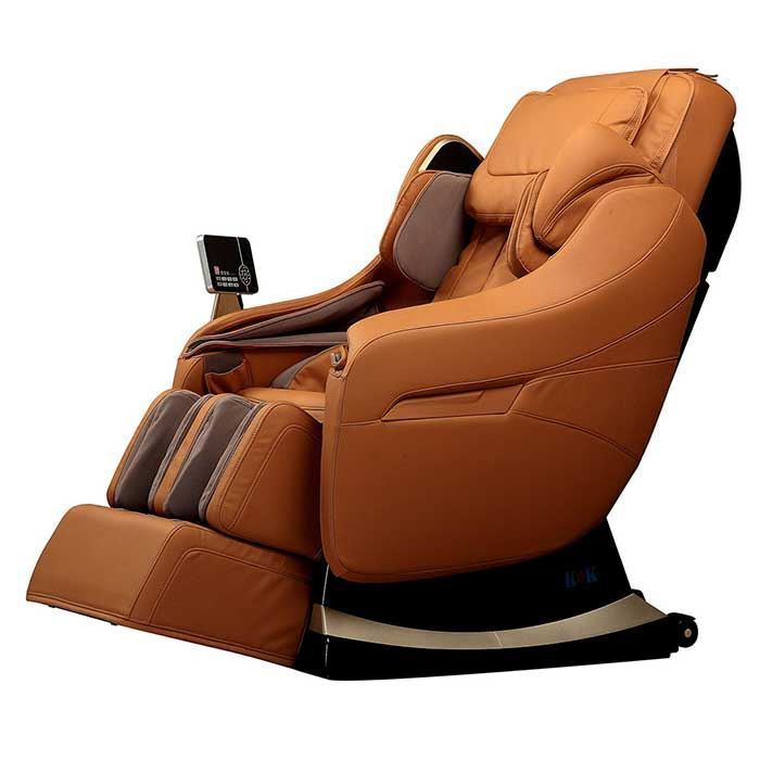 cappuccino massage chair on white background