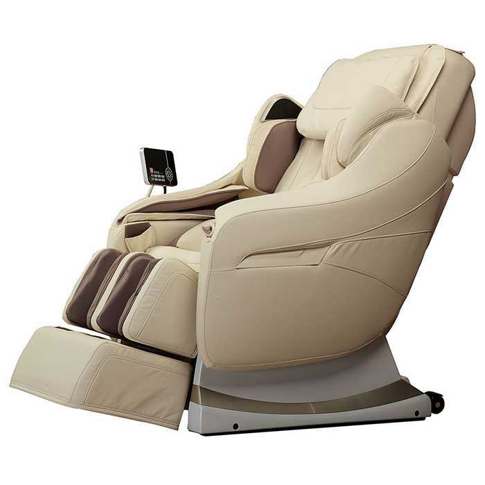 cream massage chair on white background